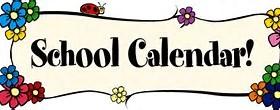 School Calendar for 2020-2021