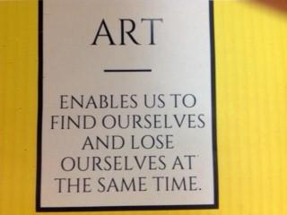 Middle School art class message