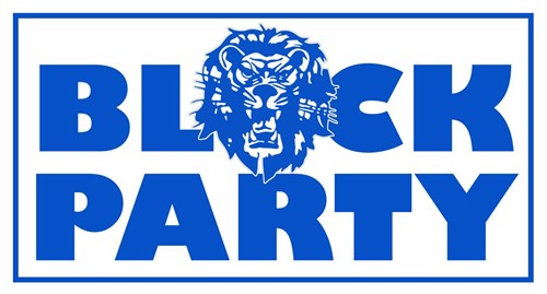 Blue Lion Block Party, free food games music prizes, Sunday May 5th, noon to 4 PM, Elm Street in front of WHS and WMS